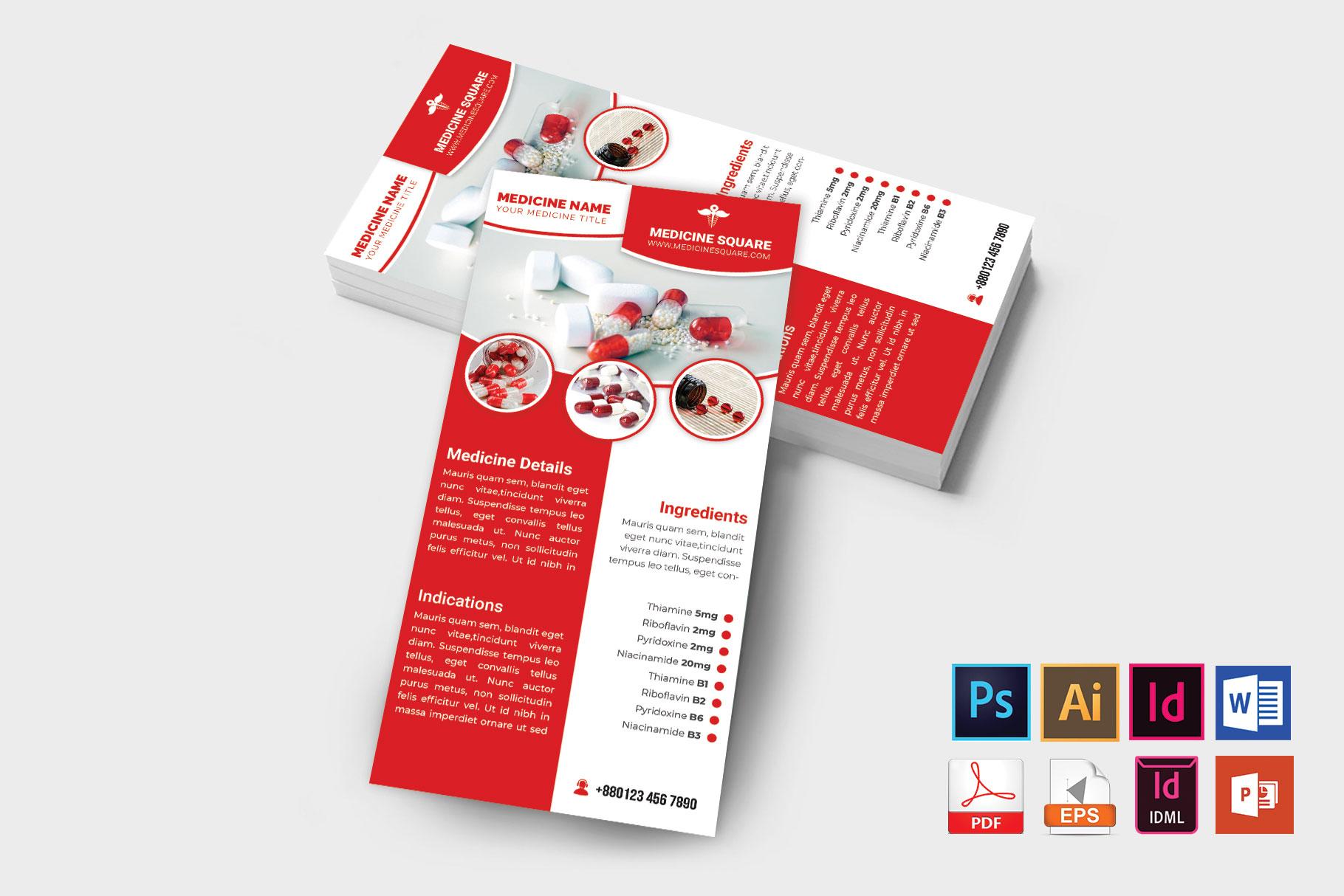 Rack Card | Medicine Promotion DL Flyer Vol-03 example image 1