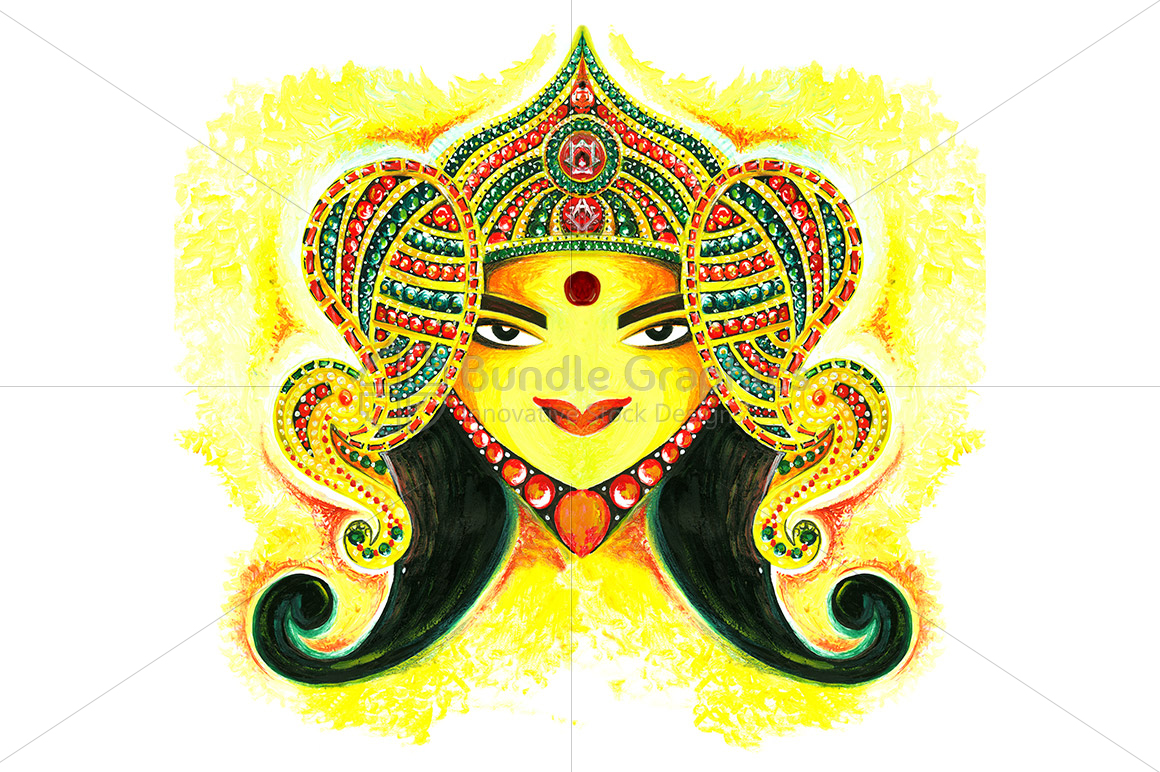 Maa Durga -  Abstract Painting example image 1
