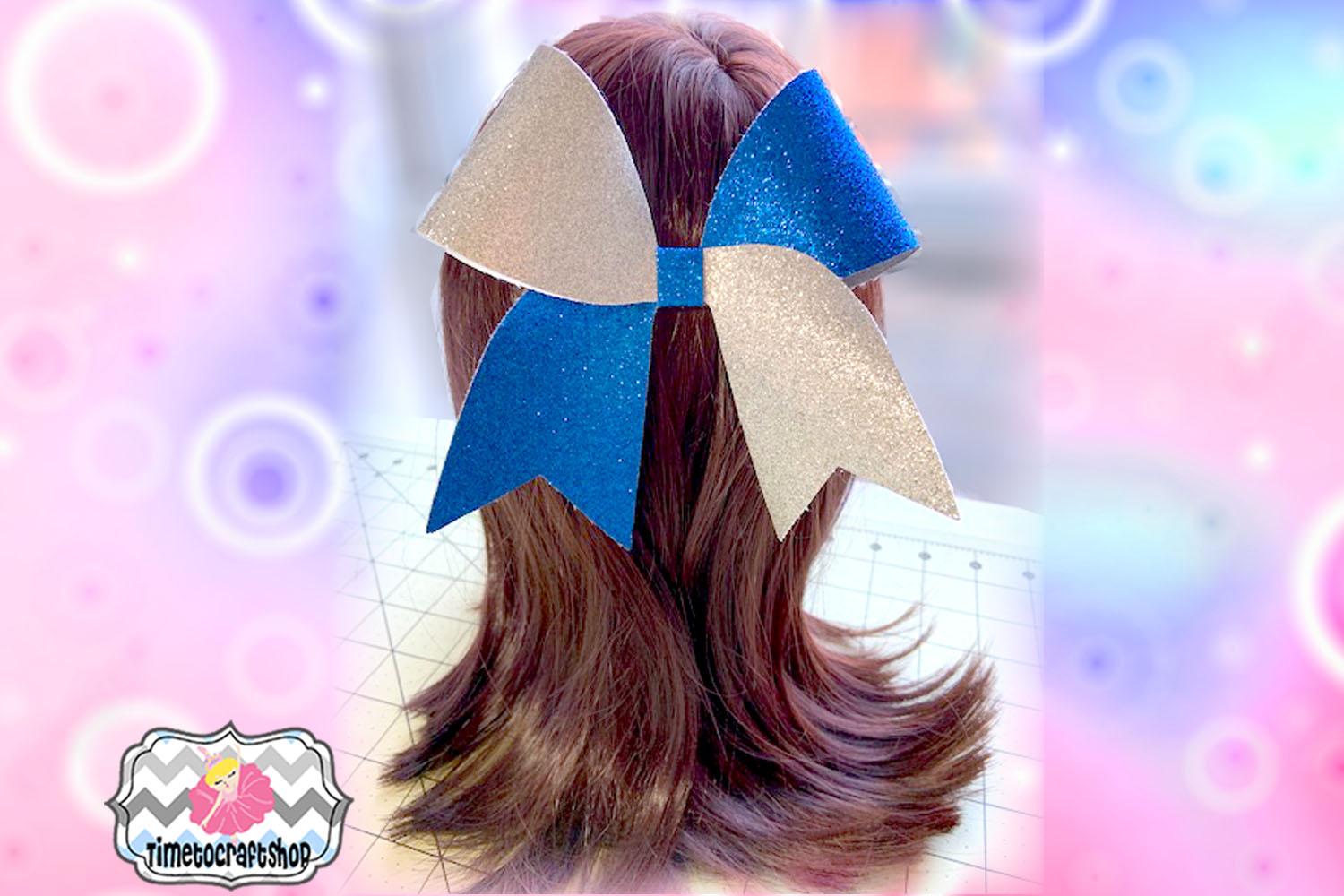 Cheer Bow Long Tail Template Svg. Dxf. Pdf. Eps. Jpg. Png example image 2