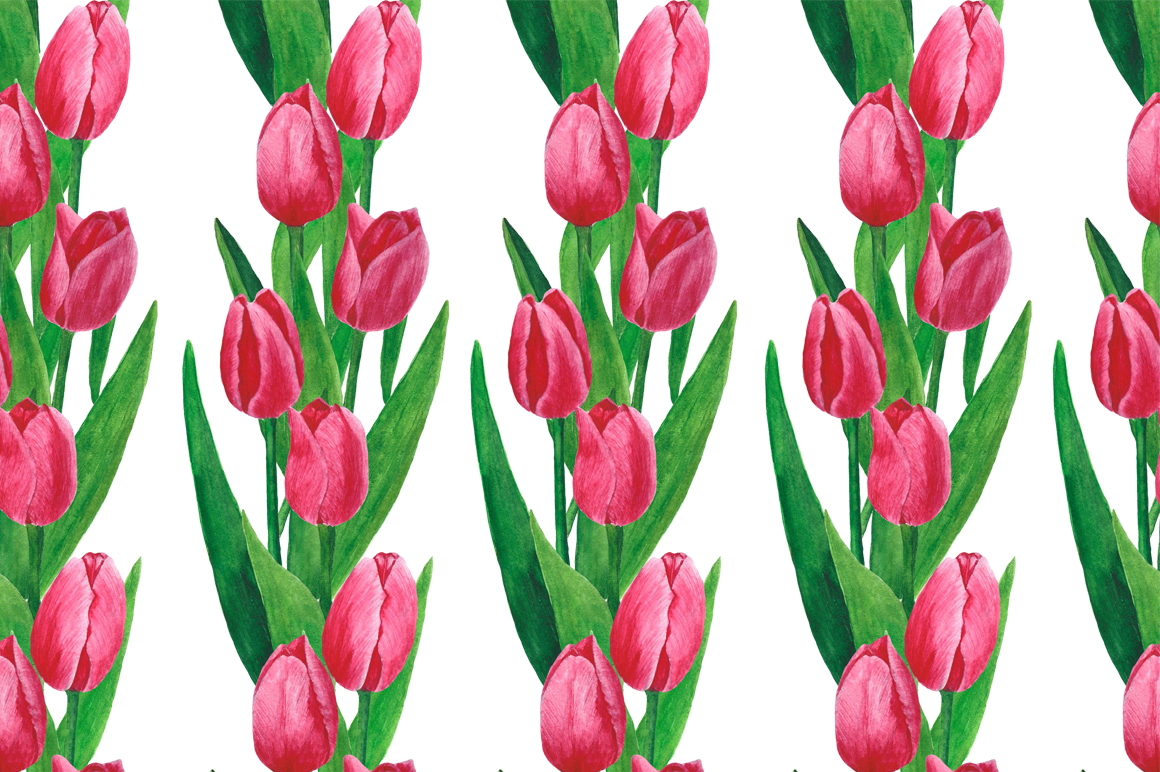 Flowers Tulips Watercolor example image 6
