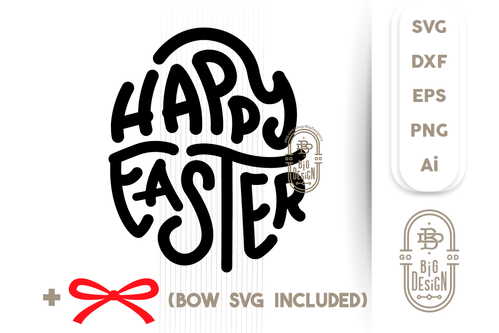 Happy Easter SVG - Easter Saying SVG Cut File example image 4
