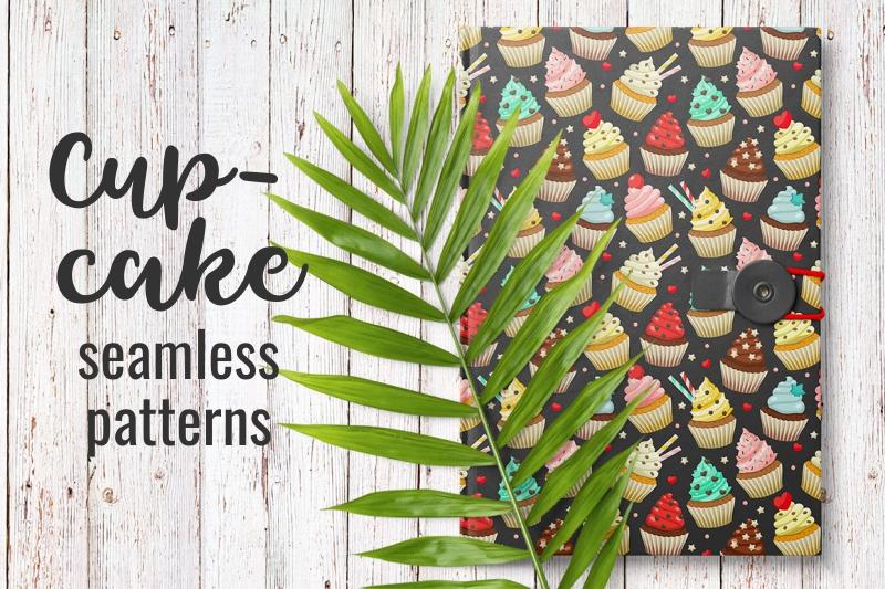Cupcakes set & patterns example image 6