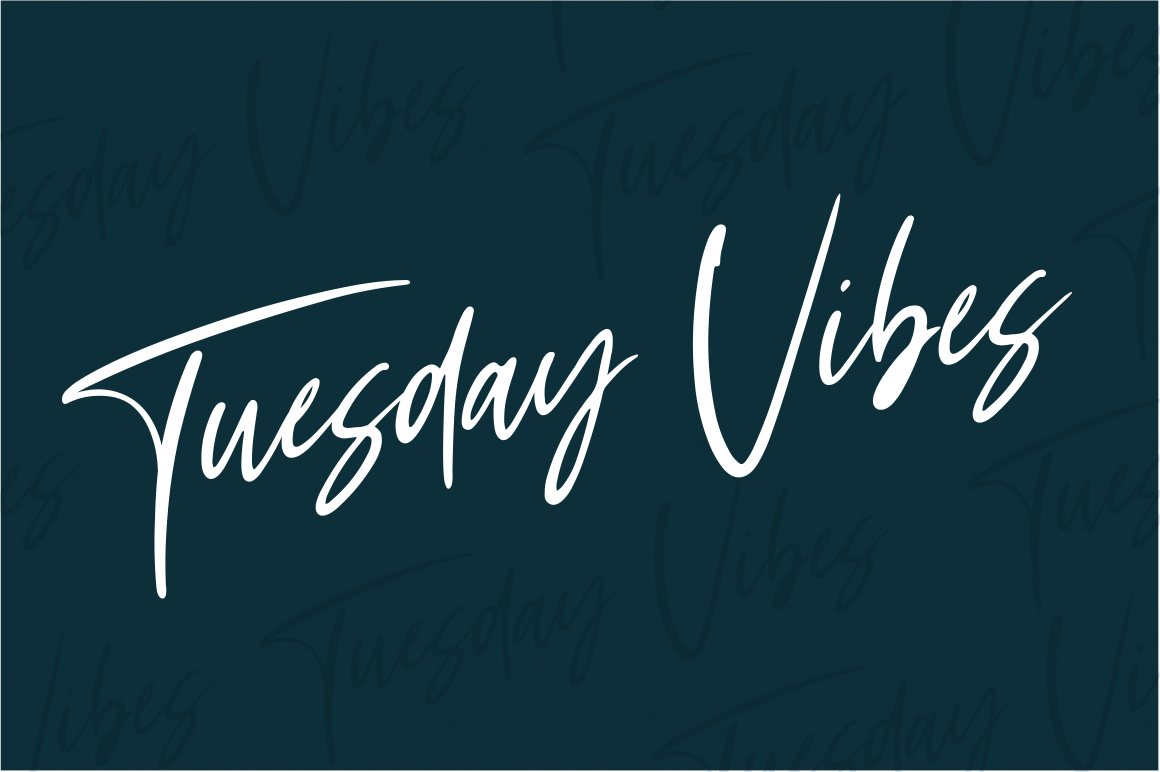 Tuesday Vibes - Handwritten Font example image 7