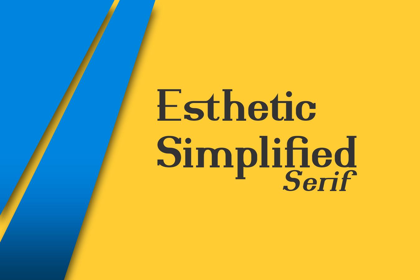 Esthetic Simplified Serif example image 1