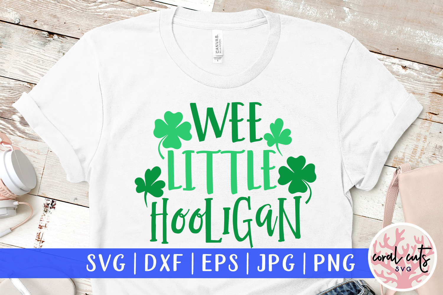 Wee little hooligan - St. Patrick's Day SVG EPS DXF PNG example image 1