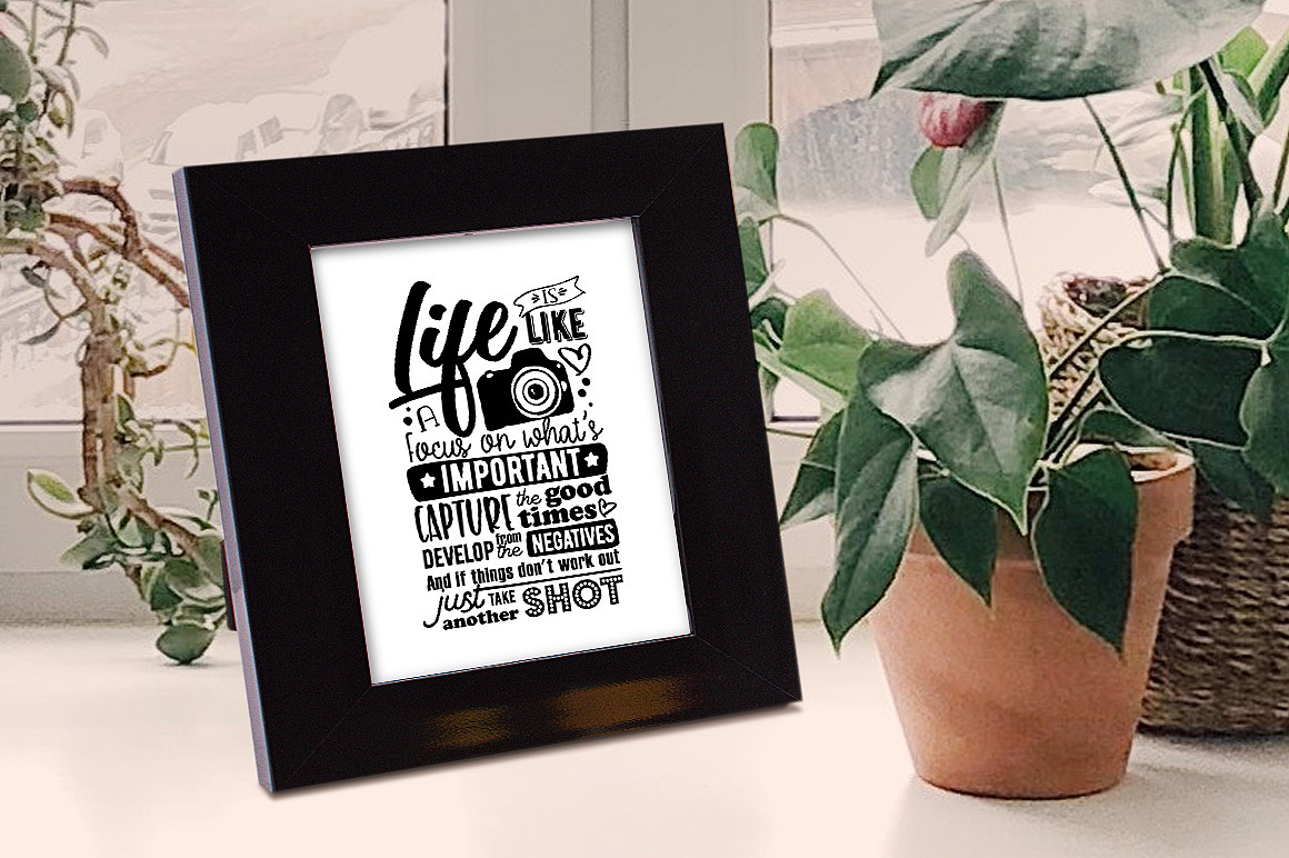 Life is like a camera... - Vector Typography Design example image 2