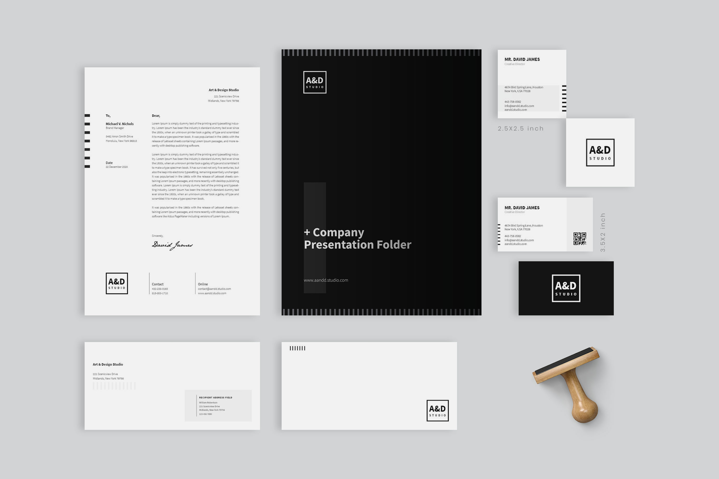 Minimal Corporate Identity Branding Set example image 1