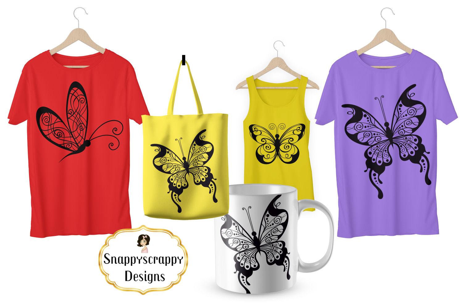 Butterflies - SVG example image 2