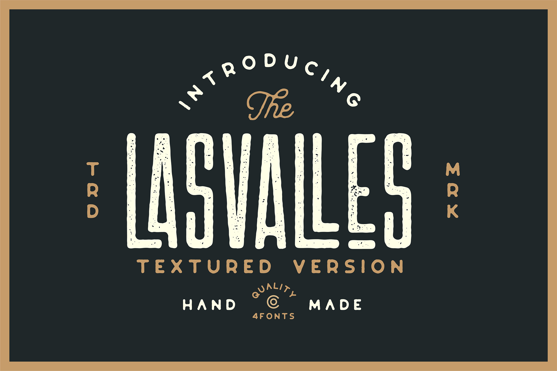 Las Valles Ultra Textured Condensed Typeface 4 Fonts example image 2