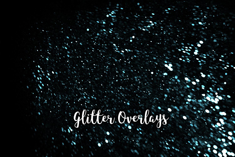 Glitter Dust Overlays, Glitter Bokeh Texture Overlays example image 3