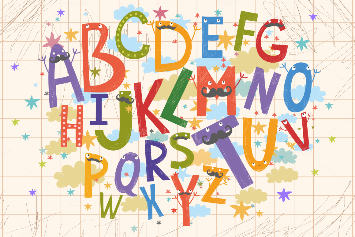Alphabet for children (vector/png) example image 2