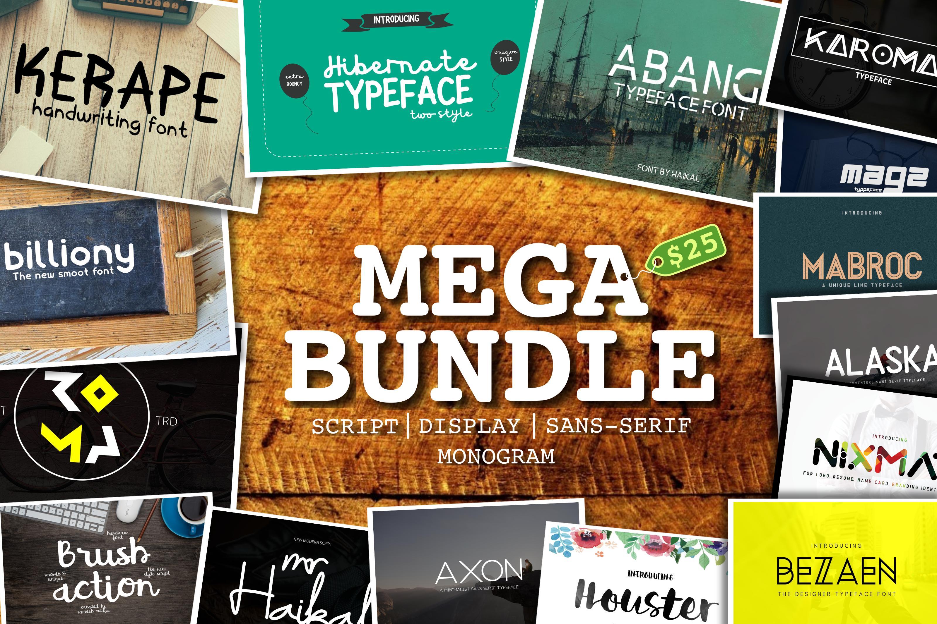 Mega Font Bundle - 95% OFF  example image 1