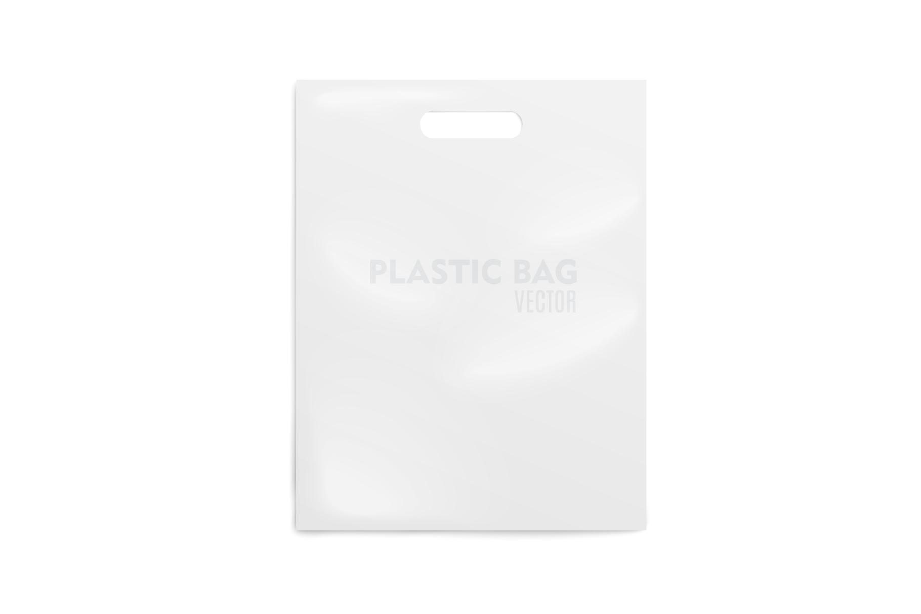 Realistic Plastic Bag. Mockup example image 1