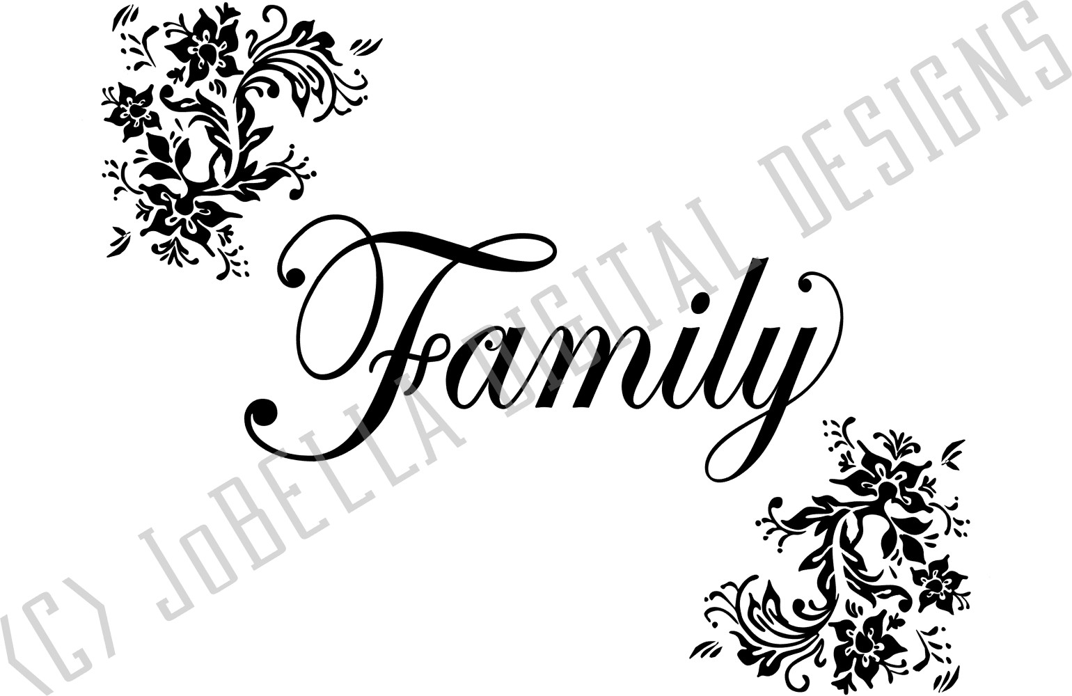 Family SVG and Printable - Floral Farmhouse Design example image 2