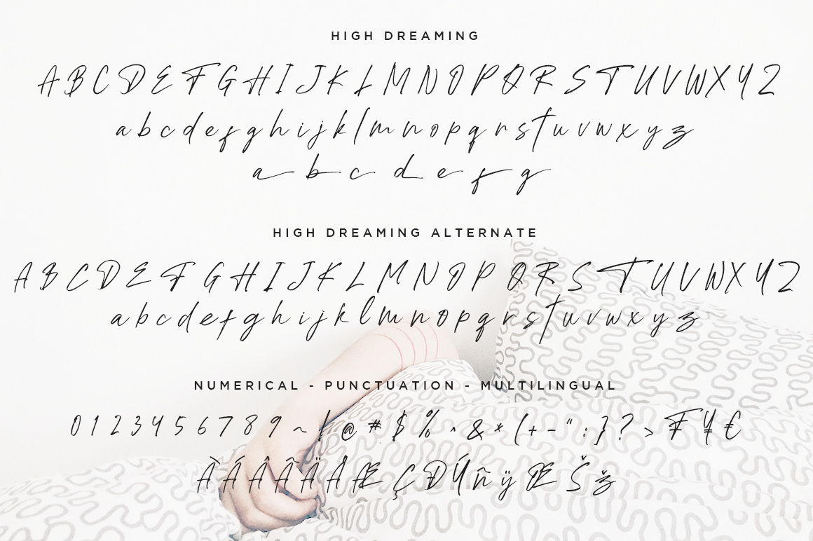 High Dreaming // Natural Handwritten example image 6