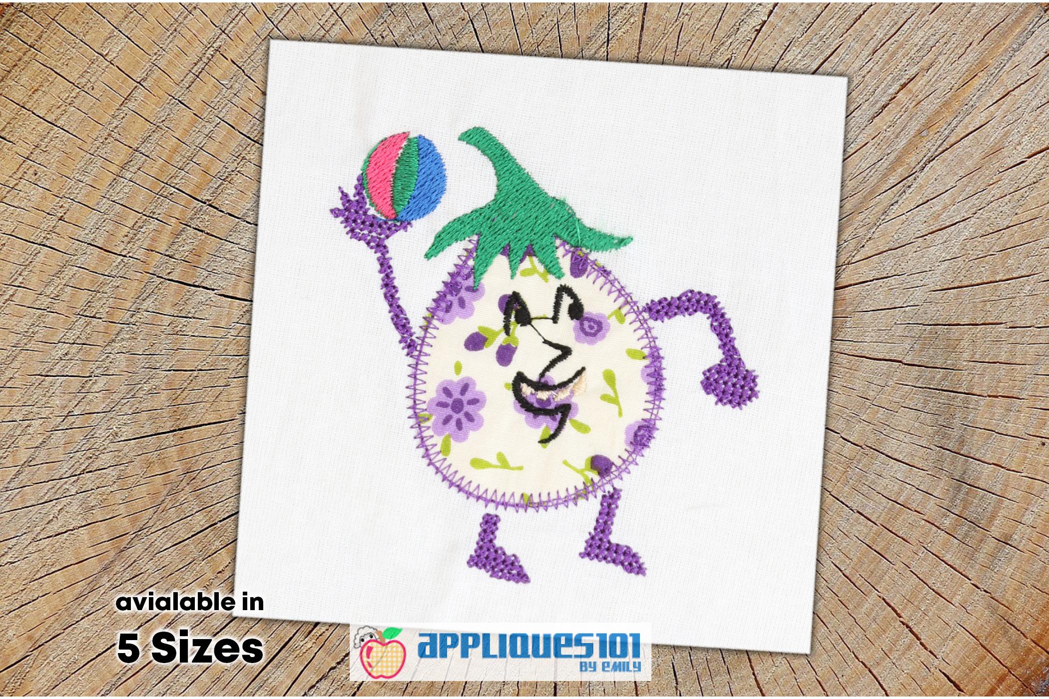 Brinjal Machine Embroidery Applique Design - Vegetables example image 1
