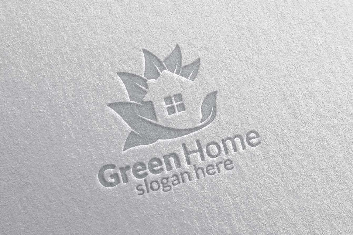 Real estate Logo, Green Home Logo 25 example image 4