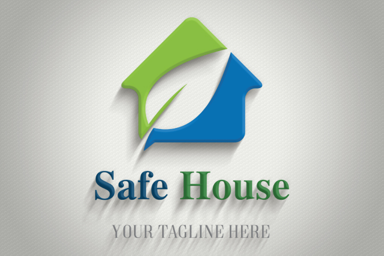 Leaf in House Logo example image 4