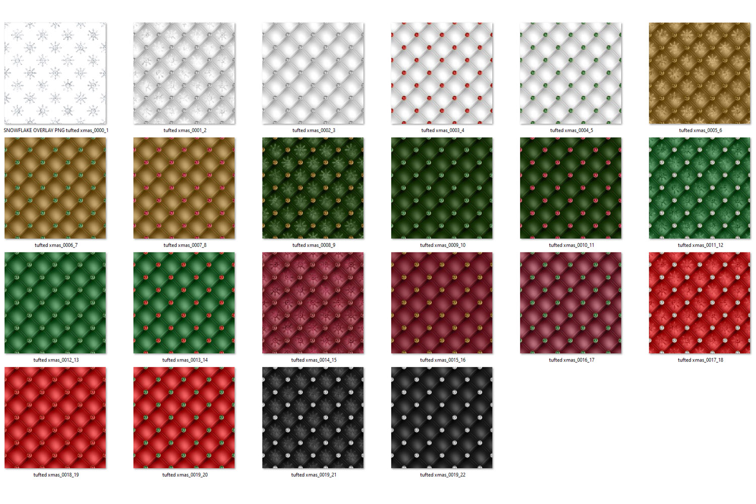 Tufted Christmas Digital Paper example image 6