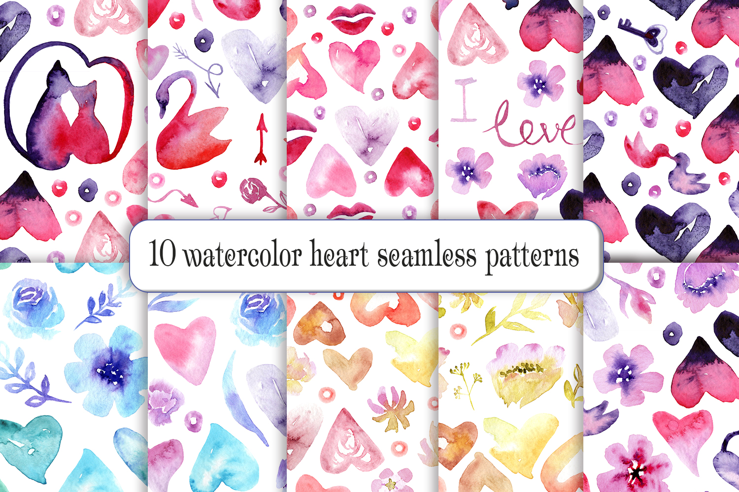 Watercolor Valentine's Day example image 5