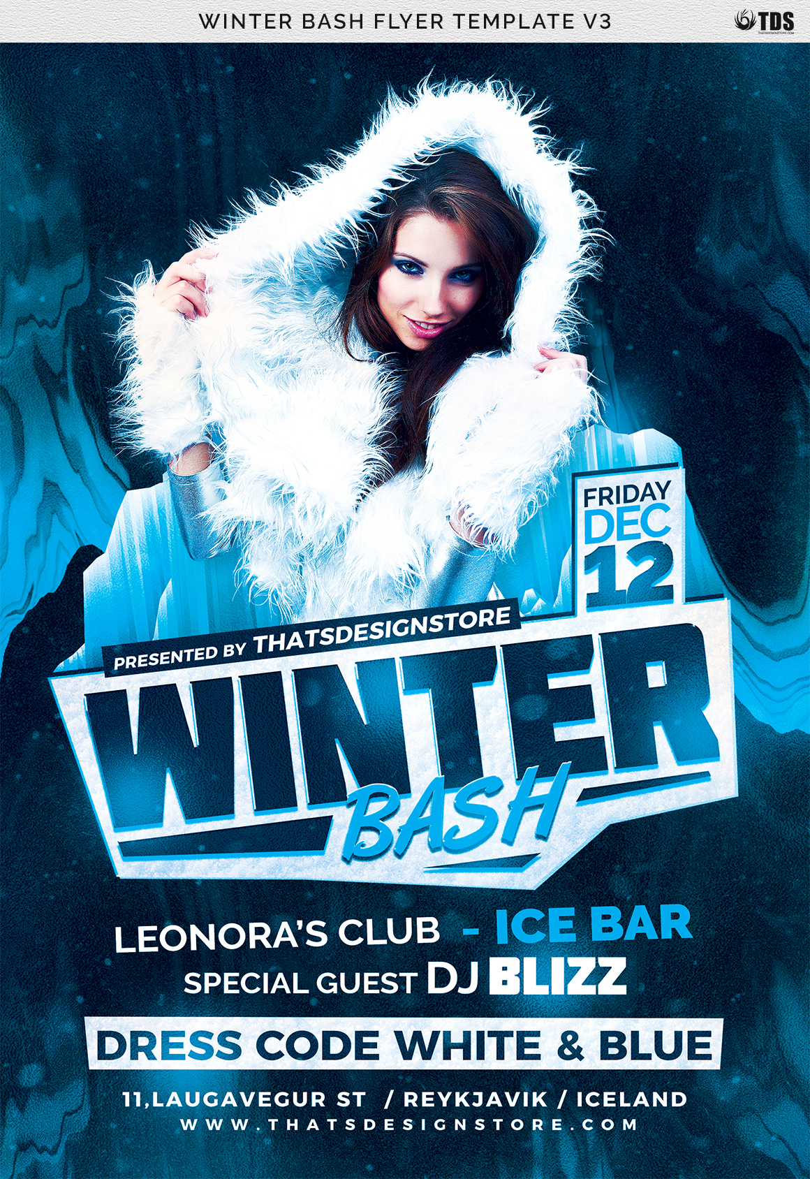 Winter Bash Flyer Template V3 example image 7