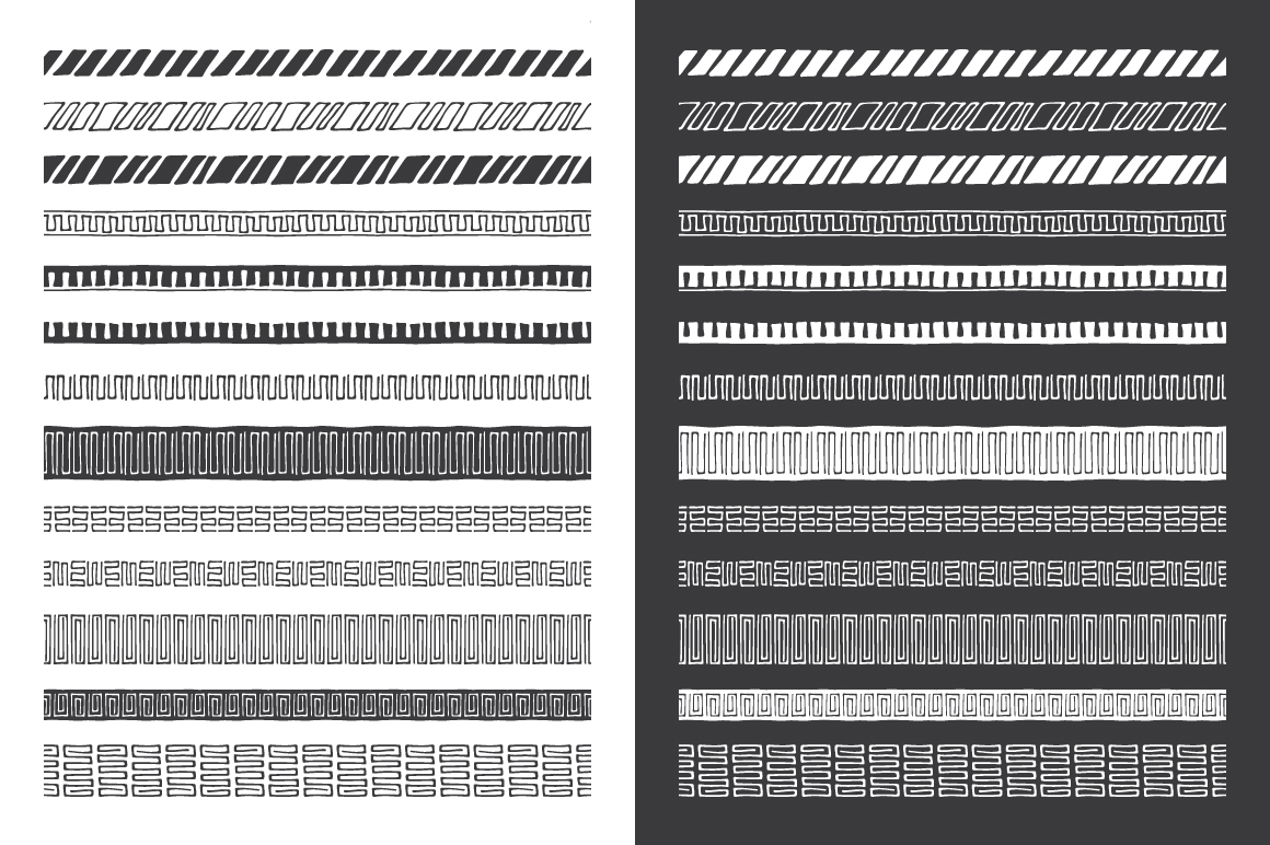 Hand Drawn Pattern Brushes Vol. 04 example image 3