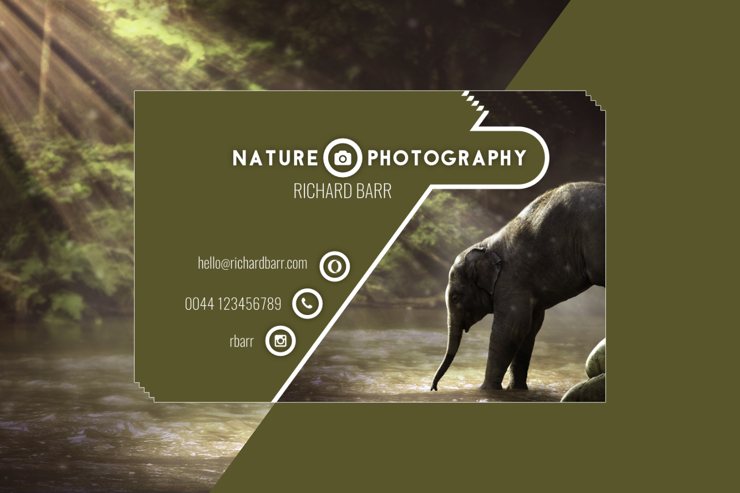 Nature Photography Business Card Set example image 8