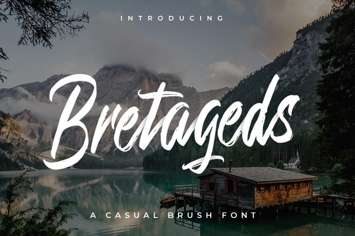Bretageds Brush Font example image 1