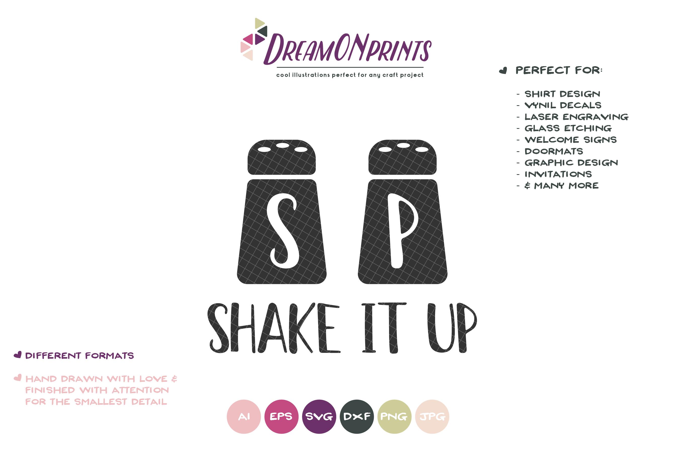 Shake it Up SVG - Salt and Pepper SVG - Kitchen SVG example image 2