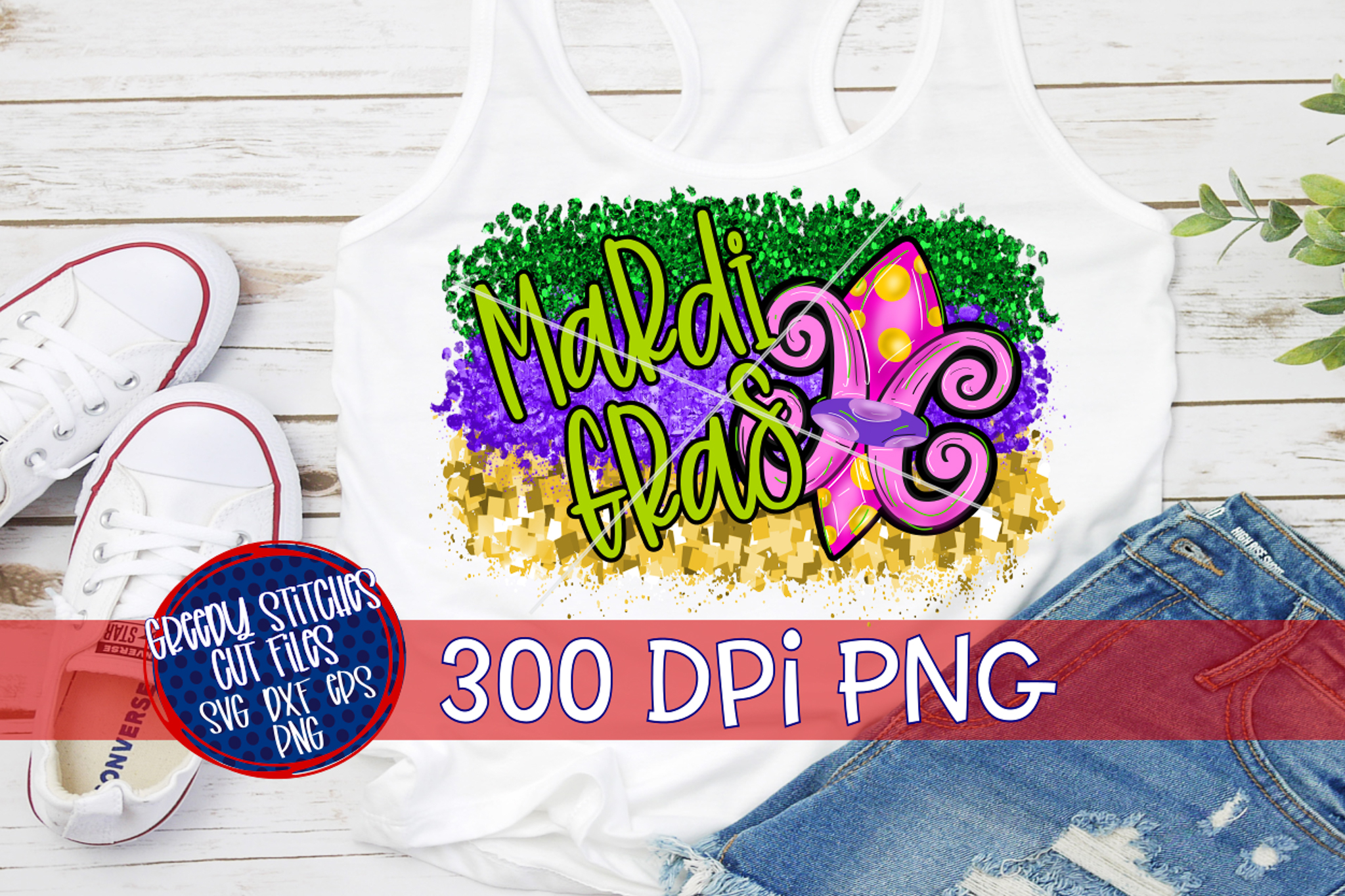 Mardi Gras PNG For Sublimation example image 1