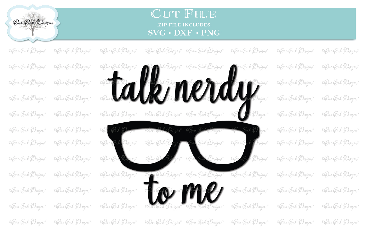 Talk Nerdy to Me SVG DXF PNG example image 1
