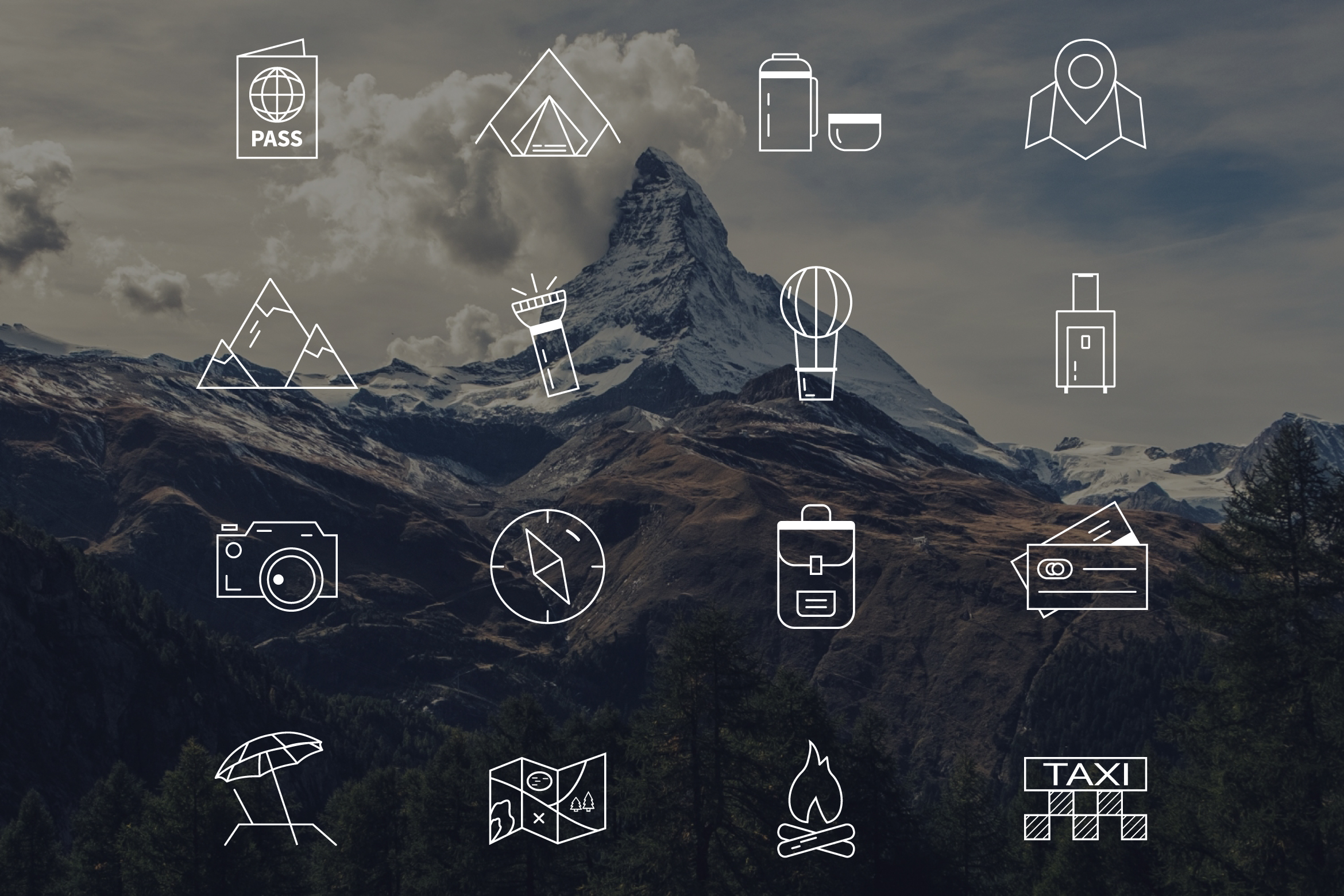 70% OFF Adventure Graphics Pack / Retro Logos Set / SVG's Collection / Icons example image 16