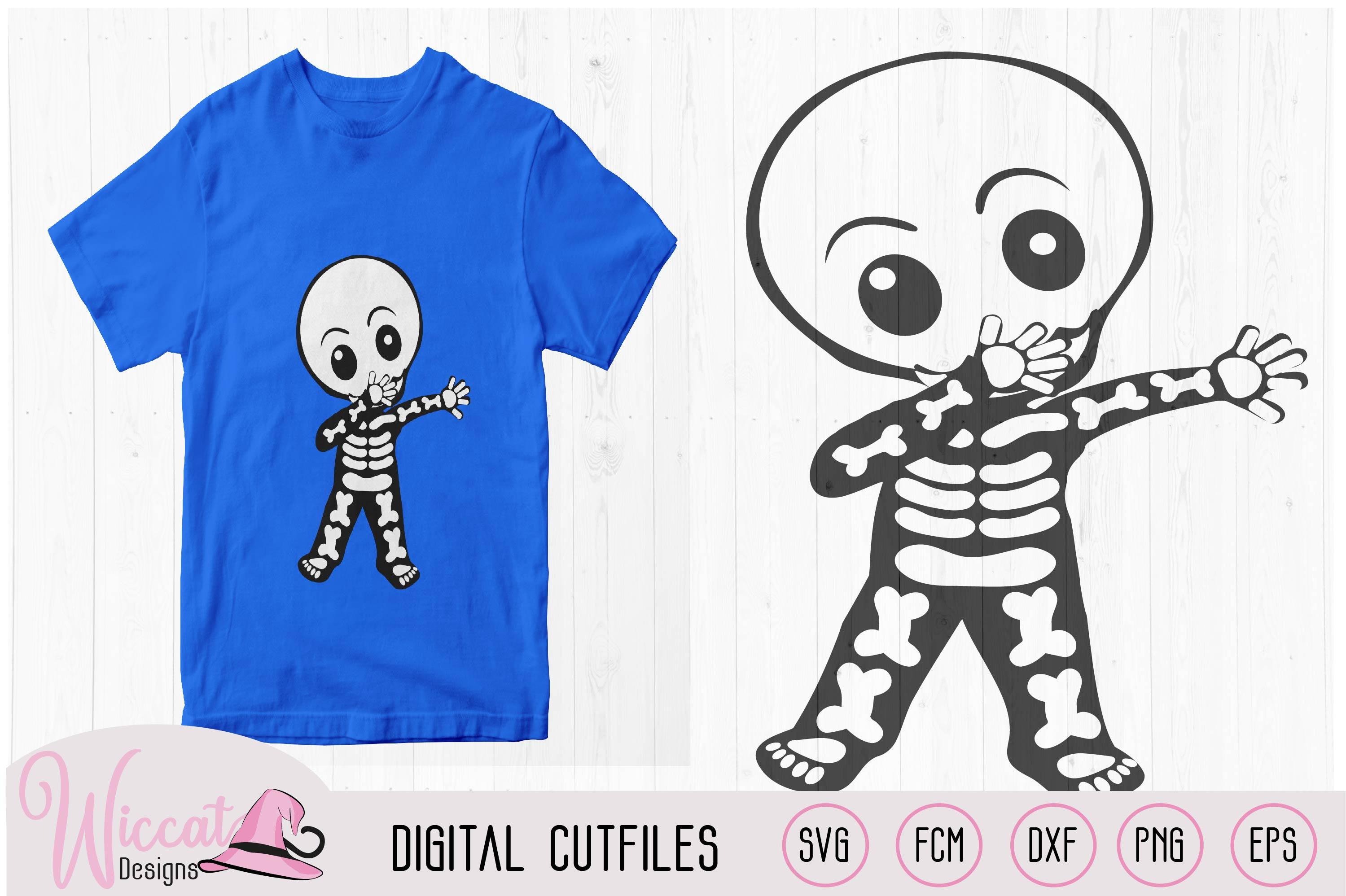 Cute dabbing skeleton, boy skeleton, girl skeleton, example image 2