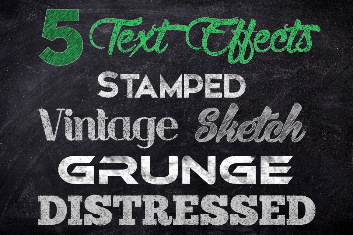 Chalk Text Effects Creator Bundle Sketch Style  example image 2