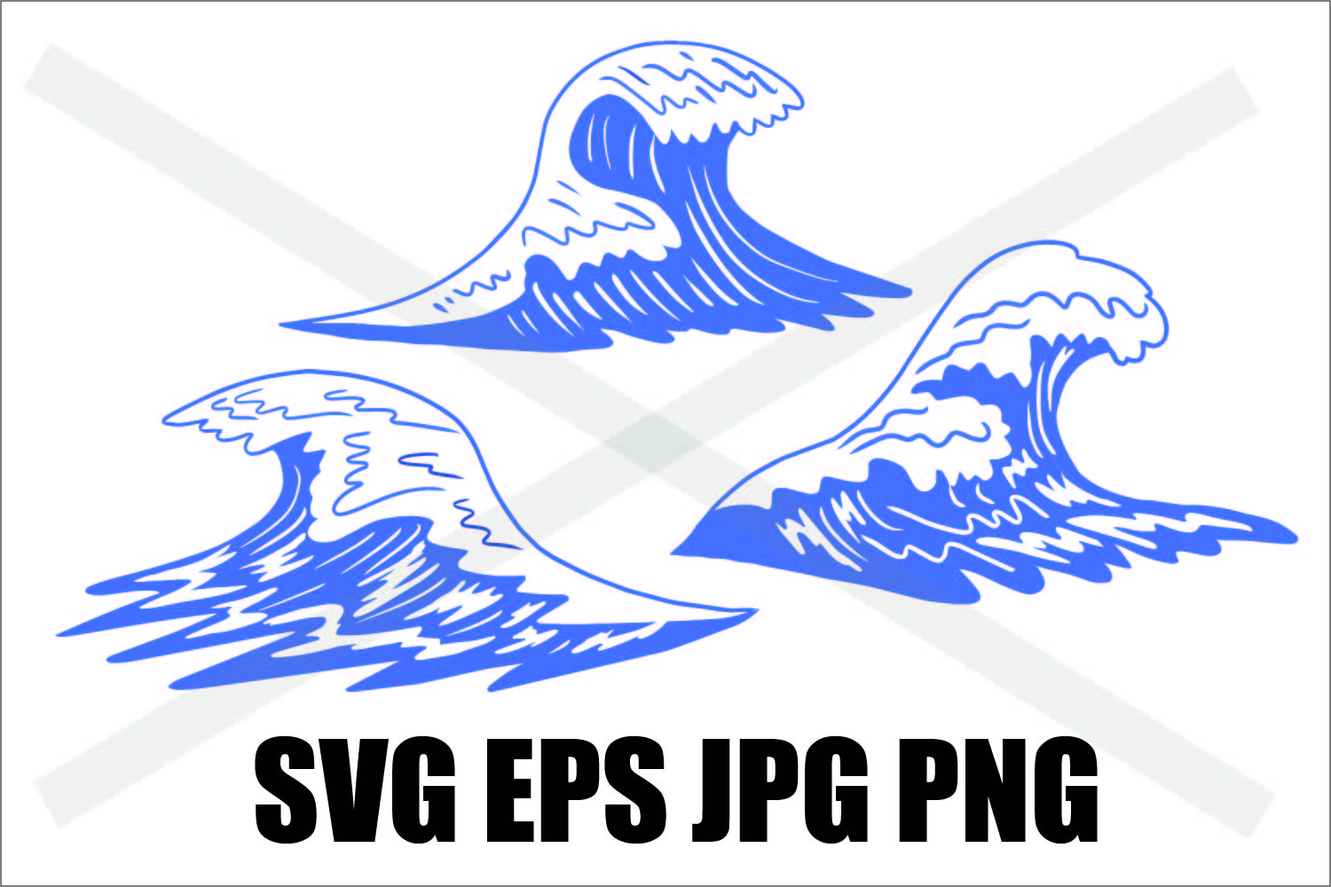 Wave - SVG EPS JPG example image 1