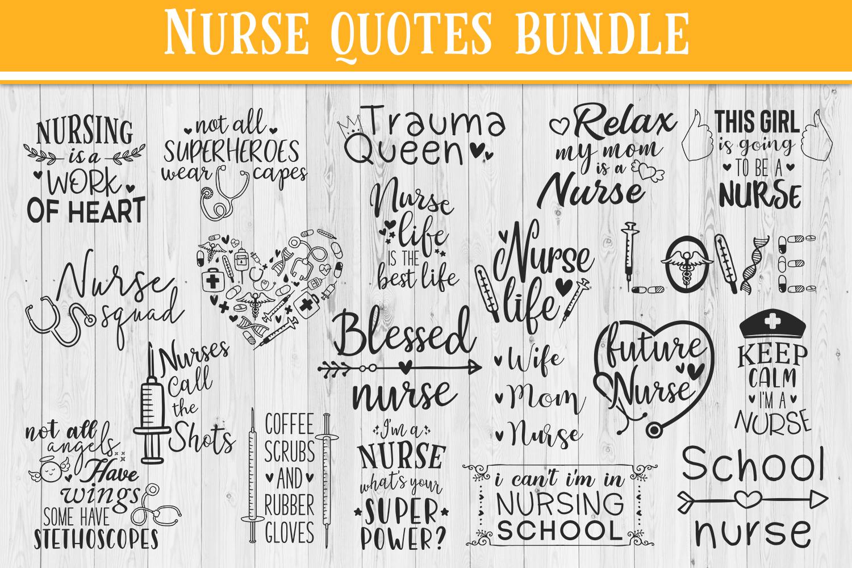 SALE! 20 nurse quotes bundle, quote sign svg, nurse svg example image 1