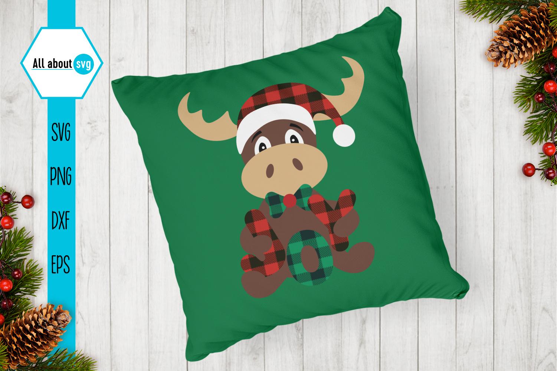 Reindeer Buffalo Plaid Svg, Christmas Joy Svg example image 4
