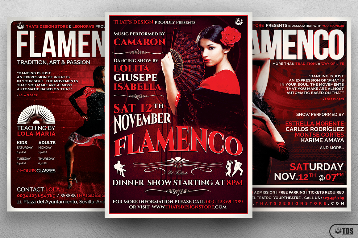 Flamenco Flyer Bundle V1 example image 3