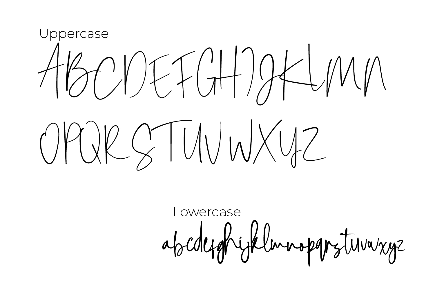 Notherwear font script example image 4