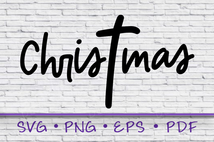 Christmas SVG, Christ Mas Svg, Cross Svg, Christ mas example image 1