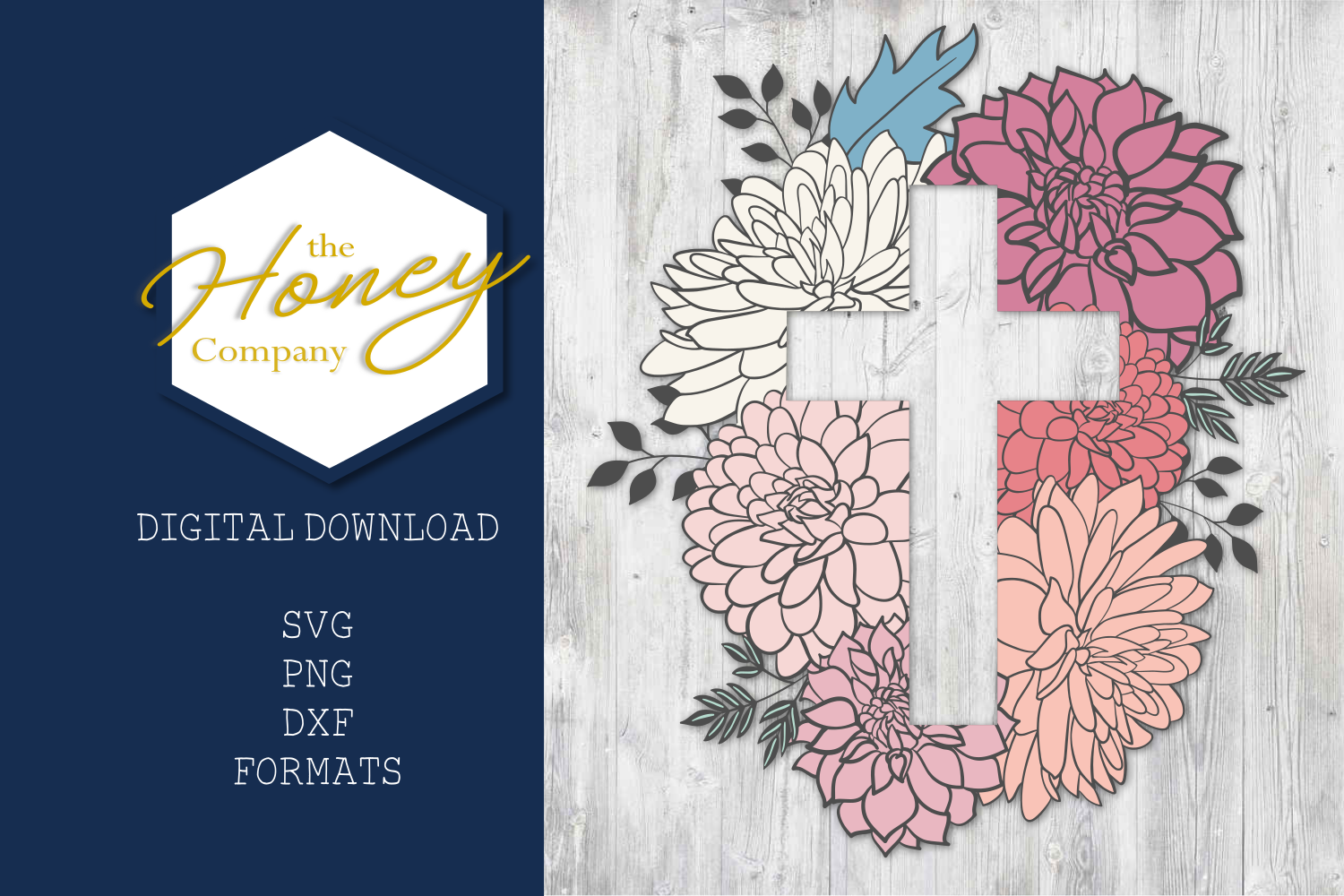 Floral Easter Cross SVG PNG DXF Cut File Vector Clipart example image 3