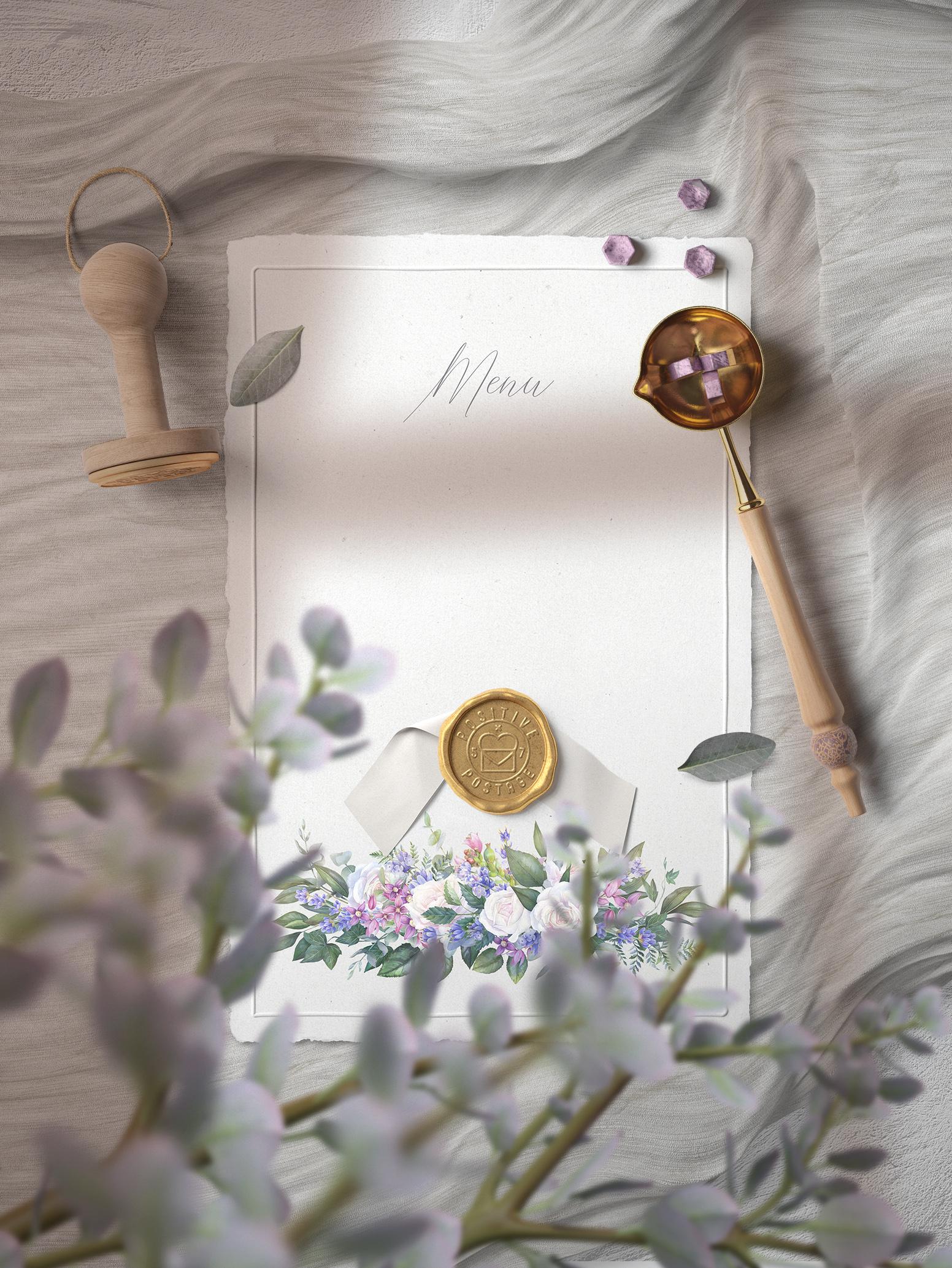 White rose wedding frame clip art example image 7