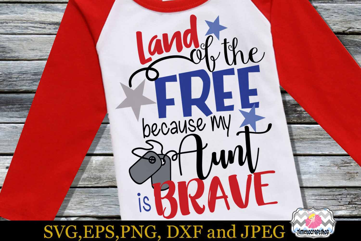 SVG, Dxf, Png Land of the Free Because of the Brave Bundle example image 5