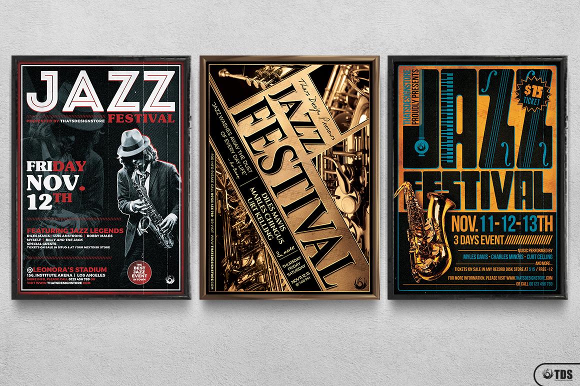 Jazz Festival Flyer Bundle V1 example image 11