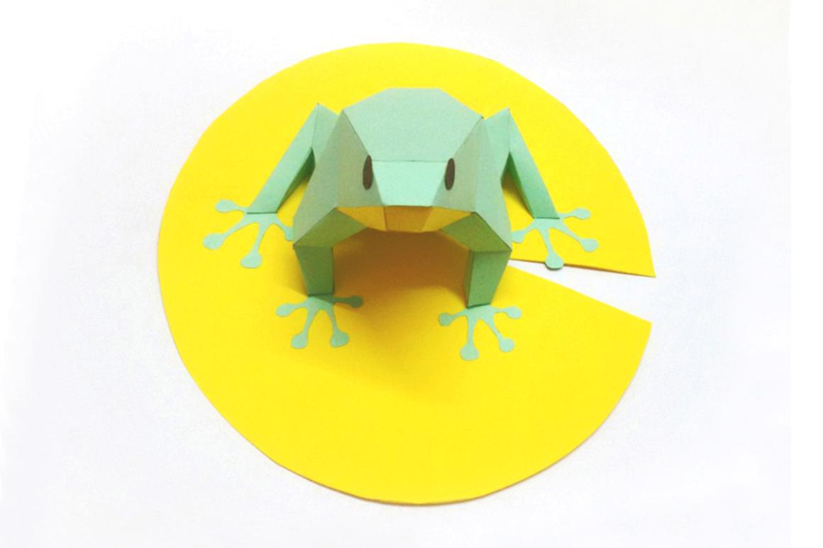 DIY Frog - 3d papercraft example image 2