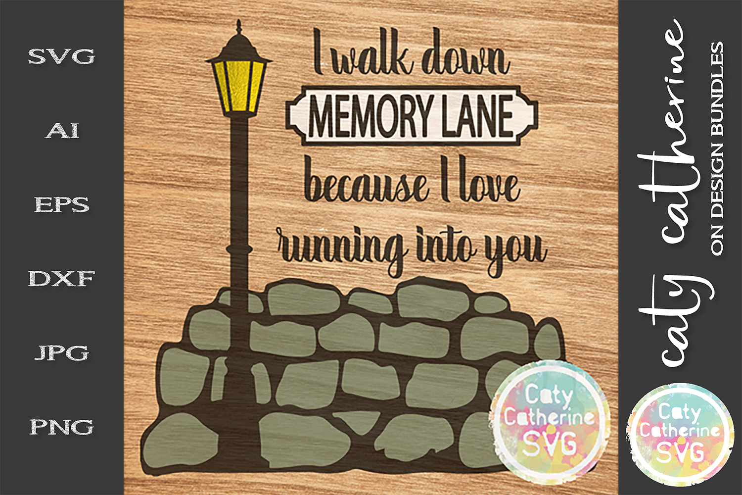 I Walk Down Memory Lane Because I love Running Into You SVG example image 1