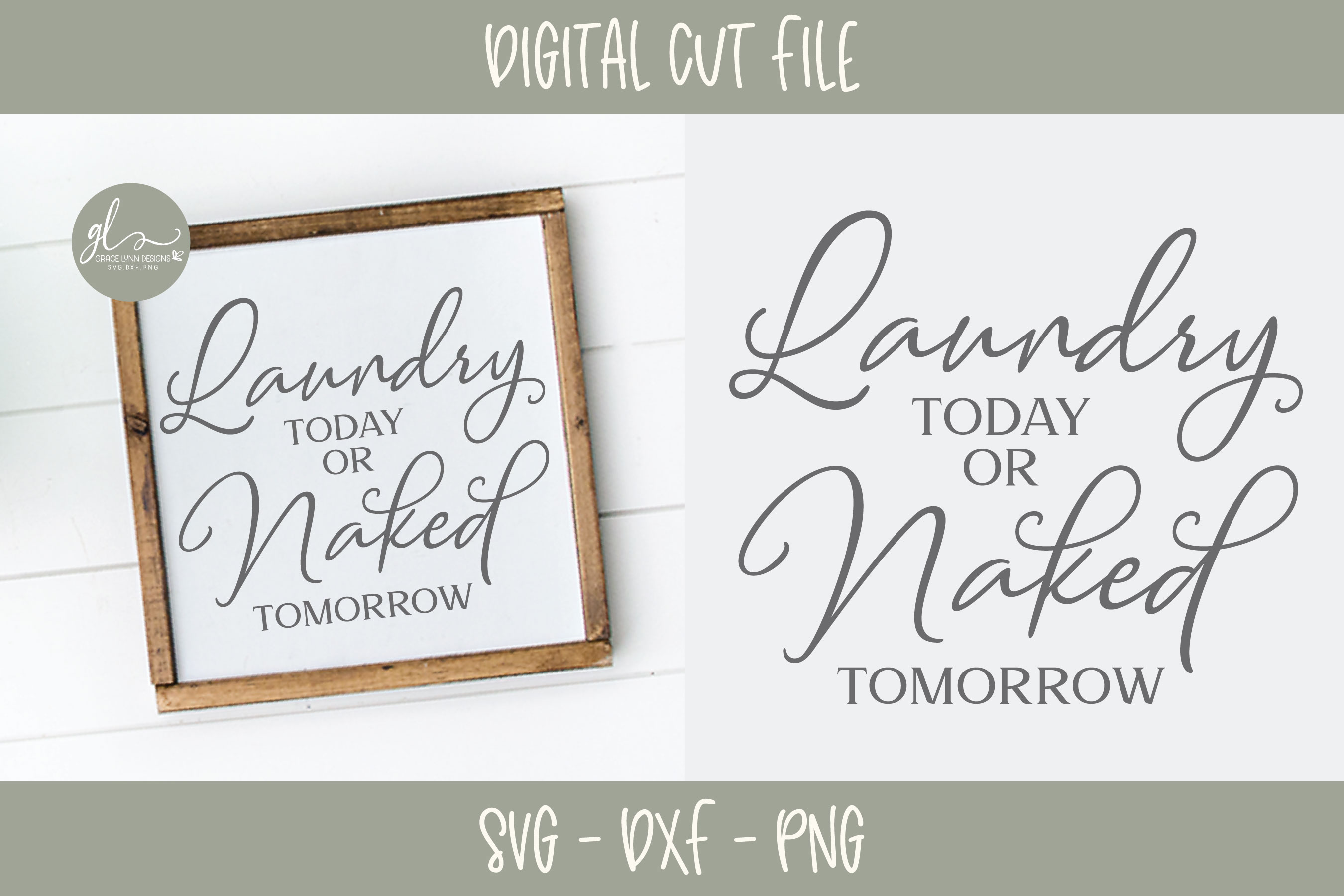 Laundry Today Or Naked Tomorrow - SVG Cut File example image 1