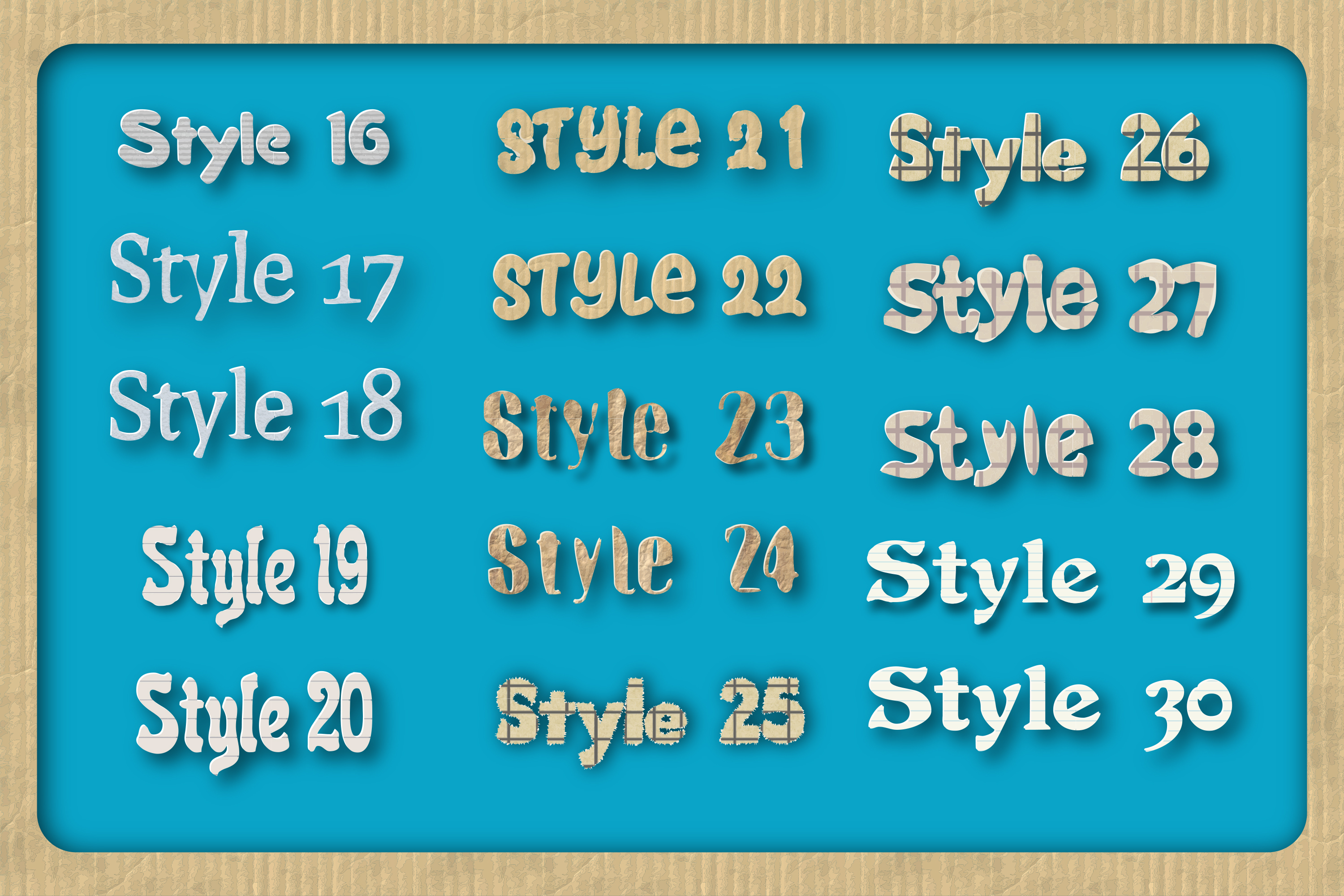 44 Paper Adobe Illustrator Graphic Styles example image 3