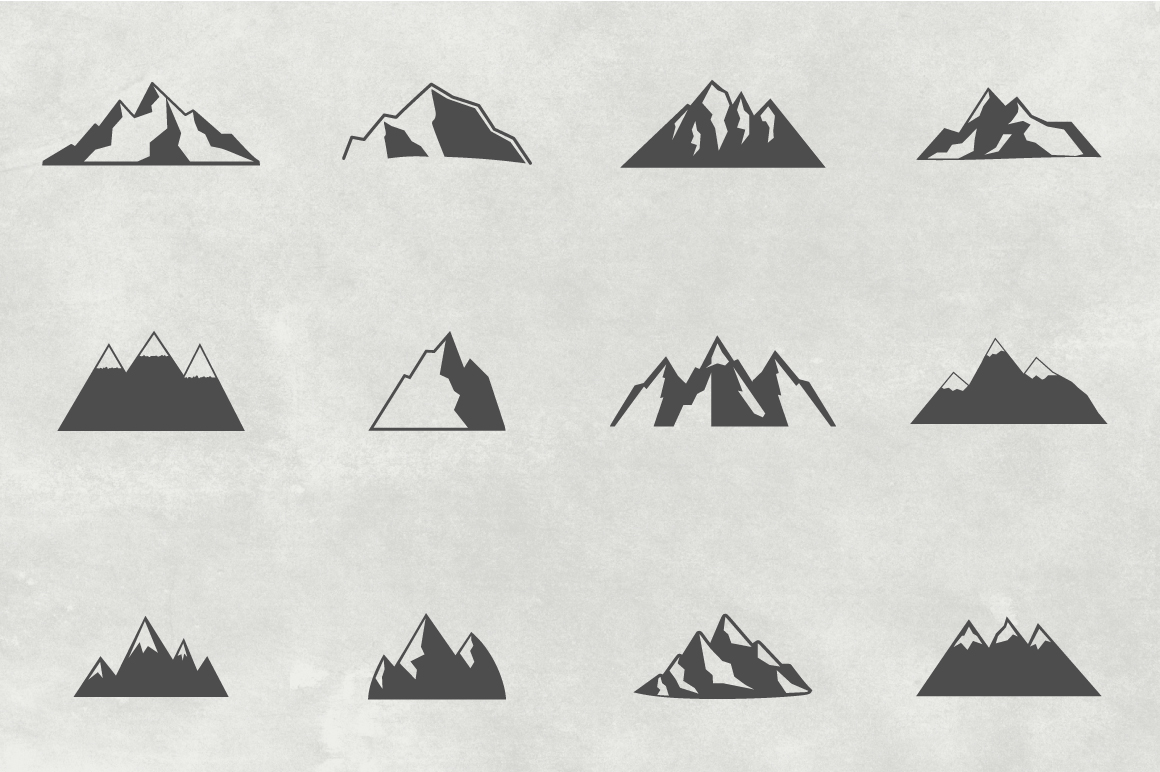 Mountain Shapes Collection. Vol.1 example image 2