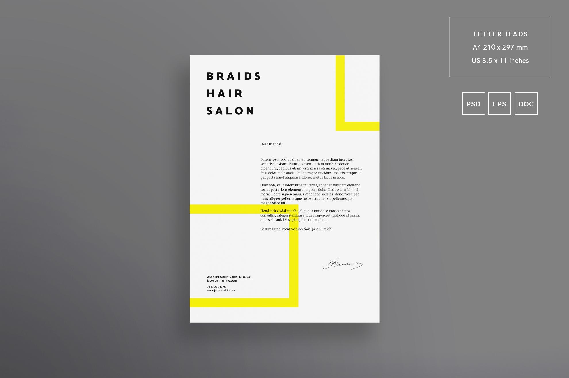 Hair Salon Barbershop Design Templates Bundle example image 4
